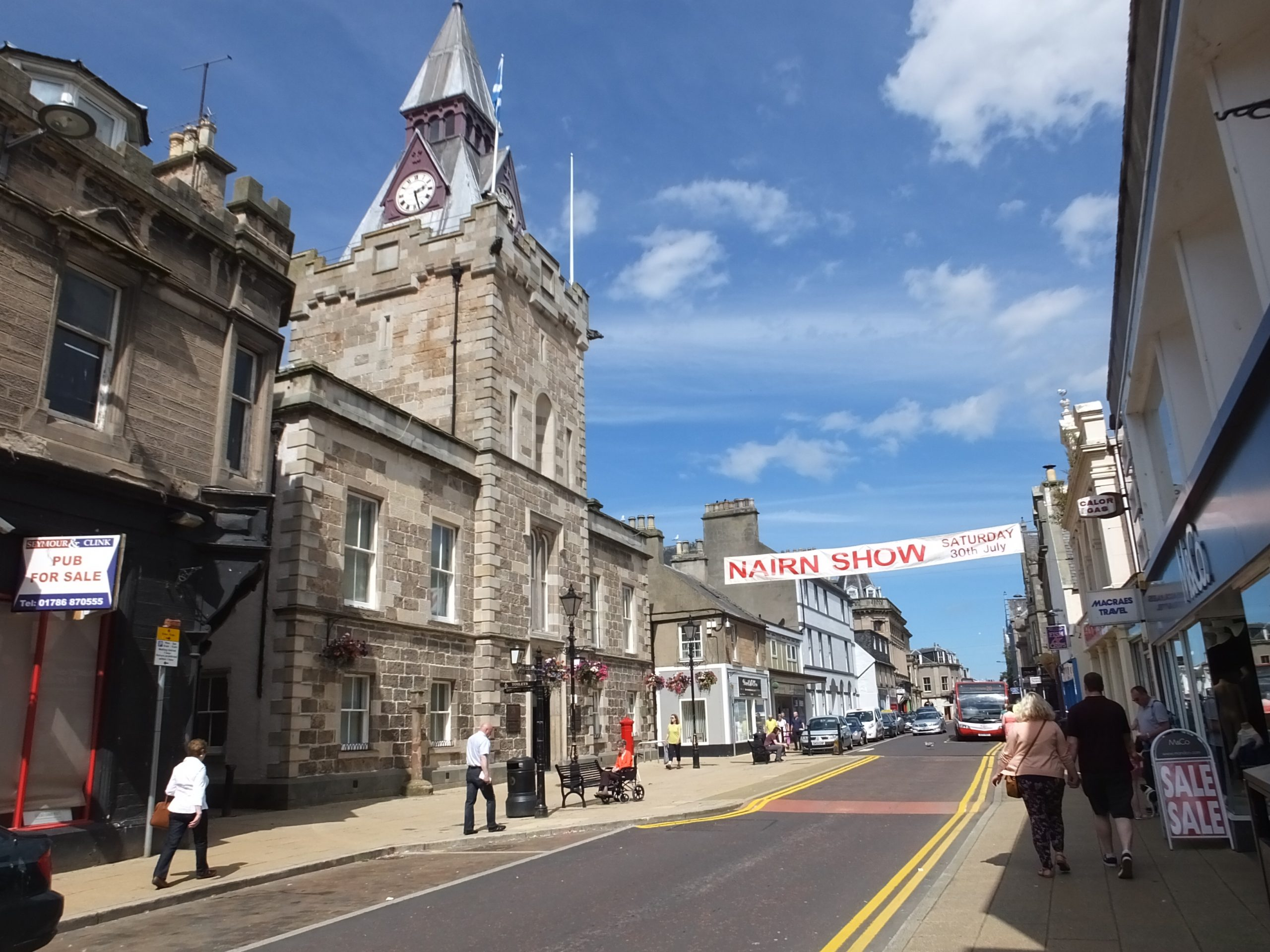 Nairn High Street - with traditional shops, restaurants, and quality dining options