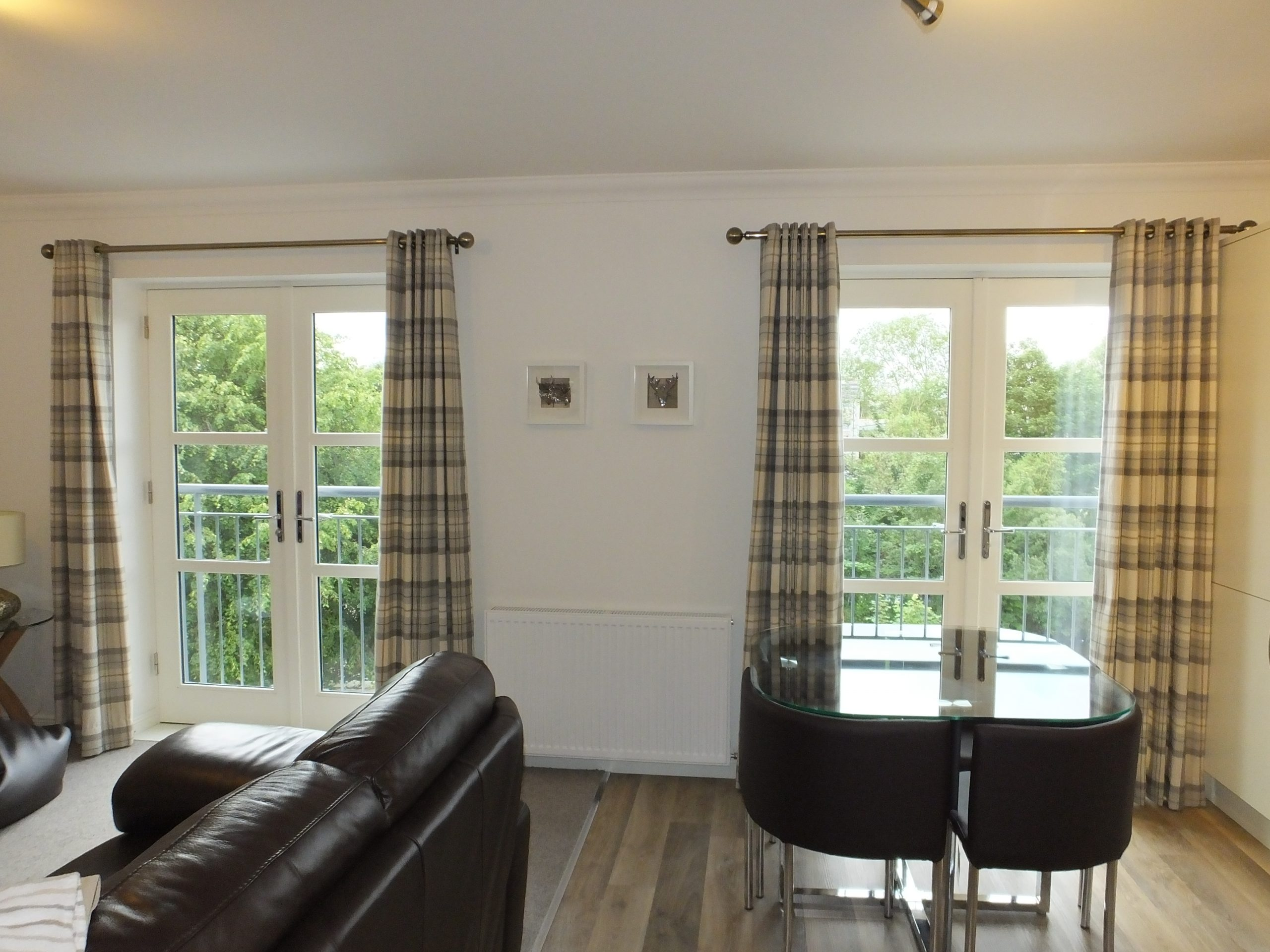 Flat 3 - French Doors with Riverside Views